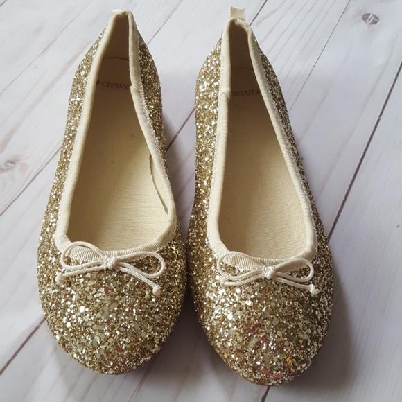 b3e7213583a Crewcuts Other - Girls  classic glitter ballet flats